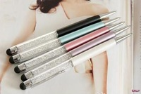 5 pieces/lot Crystal Bling Bling 2in1 Stylus Tip PEN for i Phone 3G 3GS 4 4G 4S i Pad Tablet