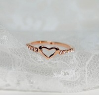 R097  New Design Fashion Alloy Heart Ring Vintage Jewelry Accessories Gift Wholesales  Free Shipping!