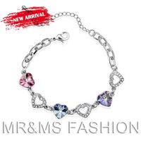 Free Shipping Hot Sales The Soulmate Vanilla Sky Crystal Bracelet Inliad Heart Jewelry 573