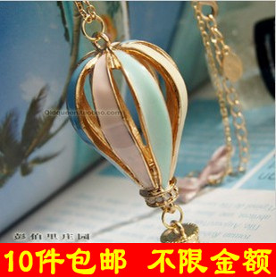 2013 Fashion vintage Multicolor Hot Air Balloon Necklaces wholesale!Free shipping!