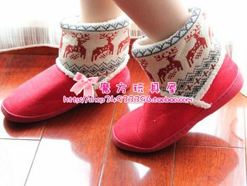Snow boots cotton boots line tube onta home boots warm boots