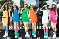 New Arrival Summer Korean Women Leisure Clothing Set Letter Printed Short Sleeve Polo Shirt+Shorts 2PCS Sport Suit Active Set