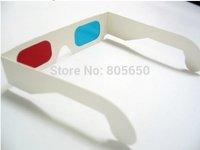 Wholesale 100pcs/lot 0.16mm PET red cyan 3D glasses
