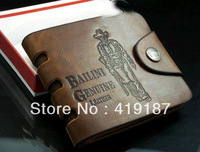 Hot sale!2013 NEW Leather Men Wallets Short and Length Wallets Men's Purse Bag free shipping !