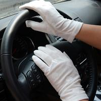 New arrival summer lace women's sunscreen gloves uv anti-uv short design 100% slip-resistant gloves cotton