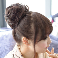 Wig new arrival wig fluffy wig hair curlers meatball head bride head bud