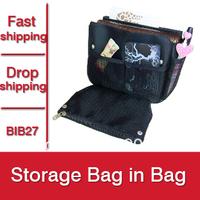 1pc New 2015 Fashion Office Organizer Women Cosmetic Bags Travel Handbag Make up Necessaries Storage Bag In Bag -- BIB27 PT05