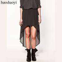 2013 top selling women Low-high fashion asymmetrical  perspectivity bust skirt irregular dovetail skirt