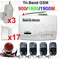 Free registration GSM Wireless Home Alarm Security Burglar Alarm System Auto Dialing SMS Call Via 19