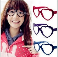 Peach heart frame glasses, Love frames ,Love  glasses ,Lens-free glasses