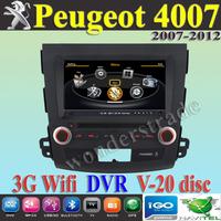 "8"" Car DVD Player autoradio GPS navi  Peugeot 4007  2007-2012 /  3G WIFI + V-20 Disc + 1GB cpu + DDR 512M RAM + DVR + A8 Chipset"