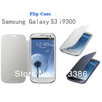 Back cover flip leather case battery housing case for Samsung Galaxy S3 i9300, free shipping