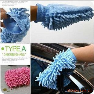 Free shipping 6pcs/lot Snow Neil fiber high density wash mitt car washer beautiful glove