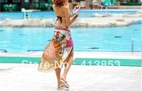 Summer Hot Sale! Sexy Pareo Dress Sarong Bikini Cover-Ups Sun Pattern Scarf Wrap Swim swimwear Beach Beautiful Charming C0486