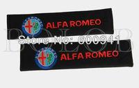 2PCS Alpha Romeo  Line Car Motor Auto Seat Belt Shoulder Cushion Velcro Cover Pads