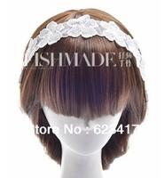 Manual white lace flower headband bride/ bridesmaid hair accessory 2013 wedding fashion free shipping
