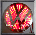 Car  rear  Bora  model  RED colour  3D emblem shining plastic led lamps Car LED brand logo for VW Bora CC retail box