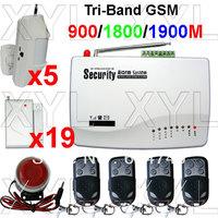 Free registration GSM Wireless Home Alarm Security Burglar Alarm System Auto Dialing SMS Call Via 20