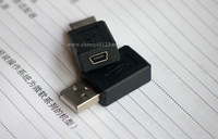 2 pcs USB Male To mini USB Female Connector