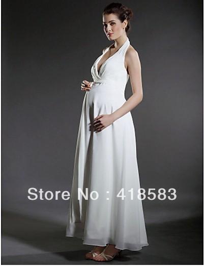Profit Cheap Sheath/Column Halter Chiffon Ankle length Pregnant Mother ...