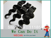 Unprocessed Brazilian Virgin Hair Body Wave Lot 3Pcs Free Shipping Hair Weft 1#,1B,2#,4# Wholesale Human Hair Of Best Selling