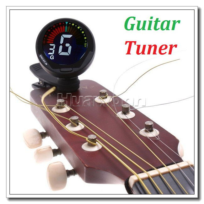 High quality Auto Digital Guitar Tuner sSuitable for Bass Violin Ukulele Dropshipping(China (Mainland))