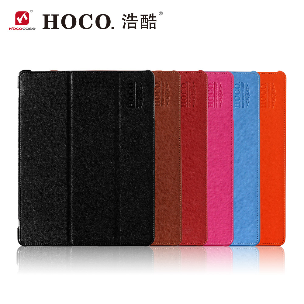 New arrival! HOCO original High Quality PU Leather Cover Case For Ipad 4 3 2.Triple Magnetic+Sleep function Retail package(China (Mainland))