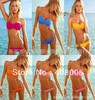 Free Shipping 2013 Swimwear Sexy Women Lady Padded Boho Fringe Bandeau Top Strapless Dolly Bikini Set