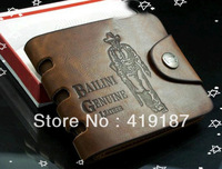 Fashion Hot Sale! Cowboy Men's Genuine Leather Wallet Multi Pocket Purse free shipping