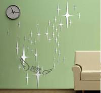 Sky star b three-dimensional wall stickers mirror ceiling eco-friendly wall stickers