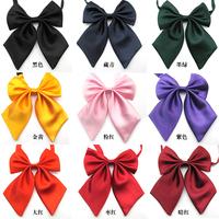 Pure Solid Color Girls School uniform cravat professional women's bow accessories Butterfly Bow tie