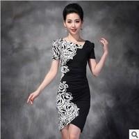 2014 the new ladies' casual sexy fashion dress/irregular summer dress/free shipping