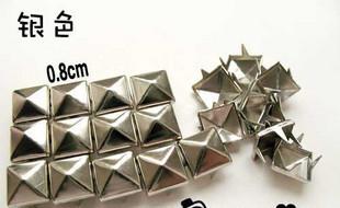 Sunflower CPAM FREE 100PCS/LOT Punk style Rivet clothing material square rivet diy material 0.8cm(China (Mainland))