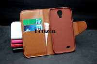 free shipping,Wallet Design ID Card Flip Leather Case Skin Cover For Samsung Galaxy S4 i9500