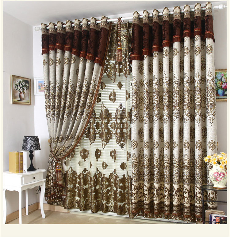 Decorative Window Curtain Villa Curtains Living Room Bedroom Blind For 3 26m Free Shipping