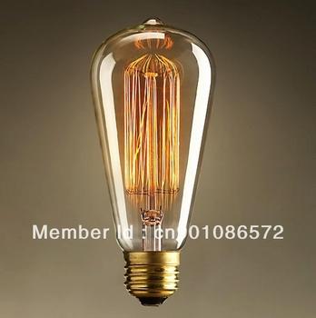 "Brand New 1 x Carbon Filament Edison Bulb 60w 220V Length 14cm/5.5"" Warm Healthy"