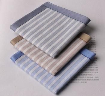 Free postage - striped 100% cotton handkerchief men handkerchief
