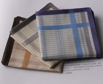 Free postage - Summer soft 100% cotton handkerchief men handkerchief