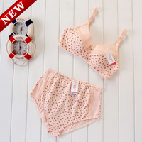 Maternity clothing four seasons general t buckle steel maternity nursing bra set of maternity underwear and panties underpants