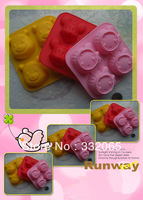 Free shipping DIY Hello Kitty Silicone Cake Mould,Handmade tool soap mold Mold,Kids Christmas bakeware