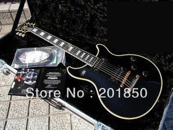 Free Shipping Hot Seller Custom Shop Tak Matsumoto Double Cutaway Custom Antique Ebony Electric Guitar No case