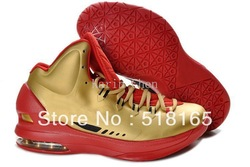 KD V 5 Men's Basketball Sport Footwear Sneaker Shoes - Gold / Varsity Red / Black(China (Mainland))