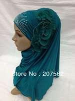 Muslim long Shawel with inner Cap Silk shawel new design islamic scarves Accept 2013-4-19-3