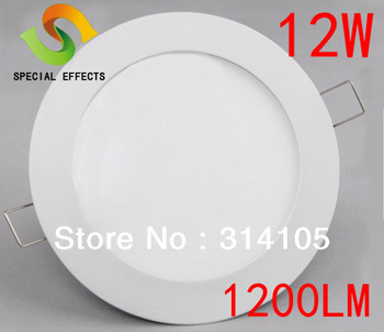Hot sale free shipping FEDEX 12w Ultra thin led panel light smd 2835 1200lm energy saving light indoor light ac110/265v