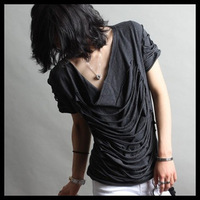 2013 Men&#39;s Slim Short-Sleeve T-shirt Personality Gary Black M L XL Free Shipping