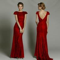 September2000 2013 long handmade sequin deep V-neck racerback full dress evening dress evening dress banquet j1035