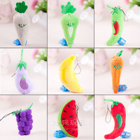 Fresh fruit small plush toy cell phone accessories small gift