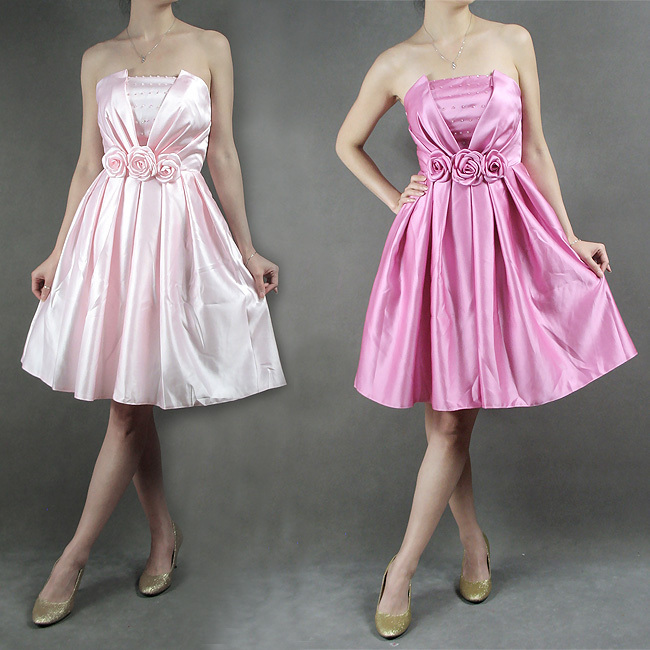 2012 silk bride dress skirt wedding dress short design bridesmaid dress bridesmaid dress red powder(China (Mainland))