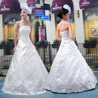 2012 wedding tube top back strap the bride wedding dress hs1243 summer