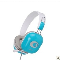 Fashion Colorful Headset Earphones Stereo Surround Computer Headset Retractable Free Shipping